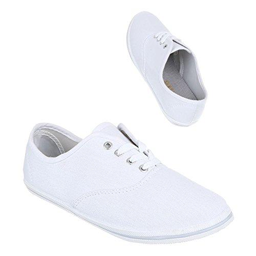 Damen Schuhe, F-03, FREIZEITSCHUHE LEICHTE TURNSCHUHE Weiß
