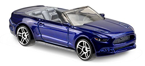 2017 Hot Wheels 2015 Ford Mustang GT Convertible Blue 104/365 (Short Card) …