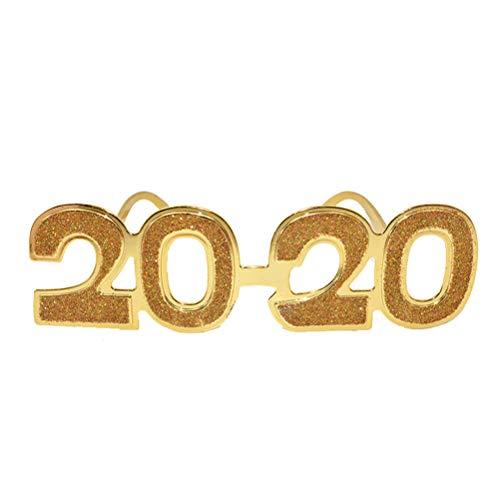 Toyvian Silvester Brille Neuheit Party Sonnenbrille 2020 Kostüm Zubehör Foto Requisiten Rahmen (zufällige Farbe)