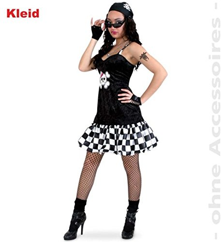 Piratin Kim 42 Minikleid Damen Teenie Kleid Fasching Kostüm (Pirat Der Jake Kostüm Kleinkind)