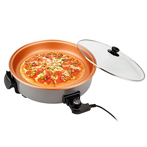 Pizza Pan Sartén Eléctrica Multifunción de 40 cm. de Diámetro y 7 cm. de Profundidad. 1500W. Paellera Arrocera Multicazuela