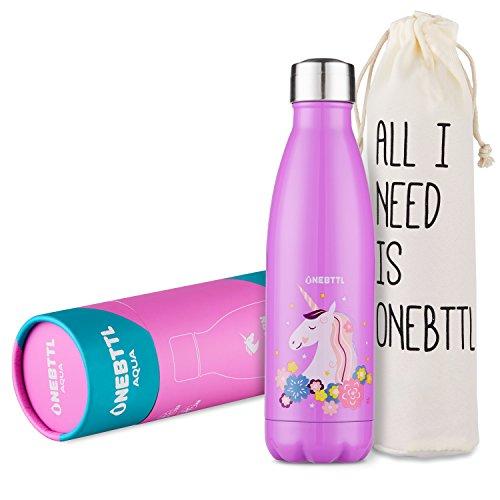 Onebttl Einhorn Sachen, Trinkflasche Kinder Auslaufsicher, Trinkflasche Tasse als deko und Geschenk...