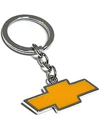 Aai Chevrolet Car Logo Metal Keychain (8cmL X 6cmB, Silver ) For Cars