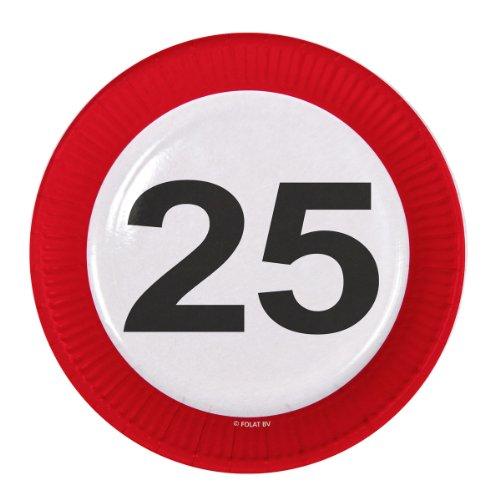 Geburtstag Teller 23cm (8Stück)-25. Geburtstag ()