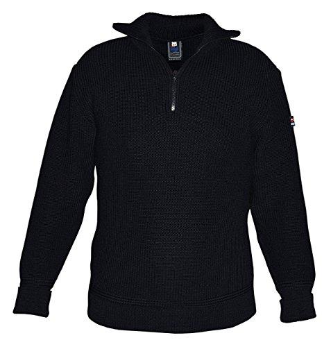 modAS Herren Troyer aus 70% Schurwolle und 30% Polyamid, Farbe:dunkelblau, Größe:46