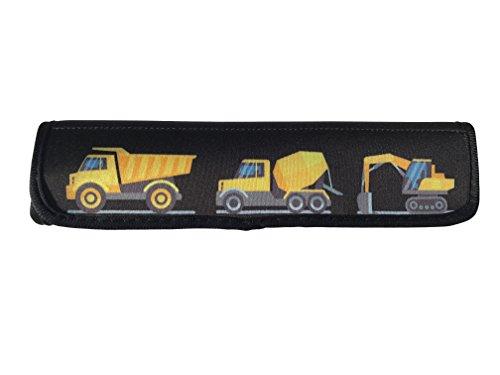 Auto Gurtschutz Sicherheitsgurt Schulterpolster Schulterkissen Autositze Gurtpolster für Kinder, Jungen/Jungs mit Baufahrzeuge, Bagger - von HECKBO