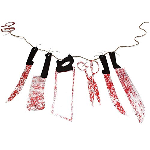 Jer armi insanguinate ghirlanda puntelli halloween zombie vampire party decorations supplies scary hanging banner artivoli per casa
