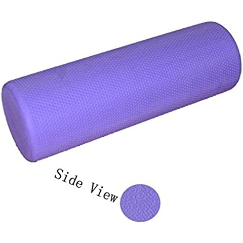 Longra 45cm Eva textura de espuma Yoga Ejercicio Roller (PÚRPURA)