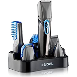 Nova 9 in 1 Grooming Kit- NG-1175 (Grey)