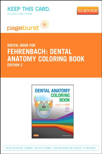Dental Anatomy Coloring Book - Pageburst E-Book on Vitalsource (Retail Access Card)
