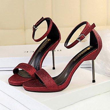 Wedding Comfort Leatherette Evening Summer Dress Red Gladiator Winter Casual zhENfu Heels Fall Party Womens Novelty Spring wqxfvzn017