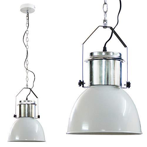 DRULINE Industriedesign Lampe Edelstahl Hängelampe Lampe Deckenlampe (Creme)