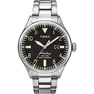 Timex Reloj Análogo clásico para Hombre de Cuarzo con Correa en Acero Inoxidable TW2R25100