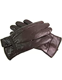Ladies Womens Super Soft Genuine Leather Gloves fully Fleece Lined
