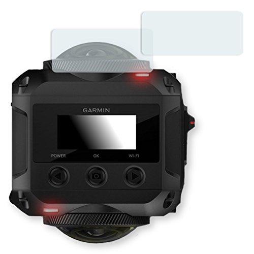 2x Golebo Crystal protection d'écran pour Garmin Virb 360 - (Clair comme du cristal, Montage sans bulles, A retirer simplement)