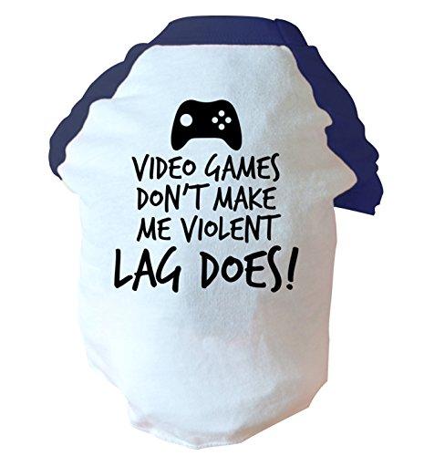 Video games non rendono voilent lag non di due tonalità, colore: rosa/blu blu Large