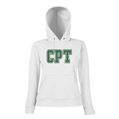 CPT Premium Hoody | Airport-Hoody | Kapstadt | Reisen | Frauen | Kapuzenpullover © Shirt Happenz Weiß