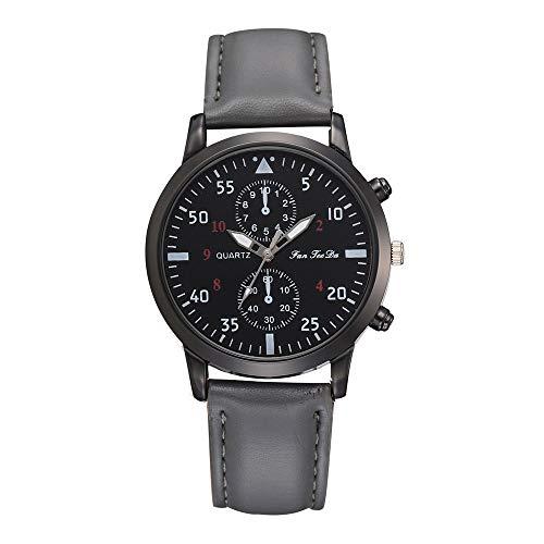 XZDCDJ Herren Uhren Frau Uhr Herren Uhren Angebote Analoge Quarz-Armbanduhr-Geschäfts-Uhren der Art- und Weisemänner Lederlegierungs 102