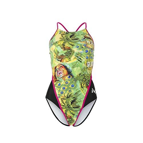 MP Michael Phelps Damen Badeanzug Corco offener Rückseite, damen, Corbo Open Back, Corbo Open Back, 32-Inch/Size UK 8 (Back Badeanzug Rio)