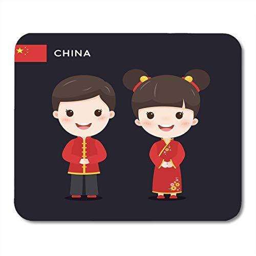 Asiatische Trachten - Luancrop Mauspads Asia Red Boy Kinder