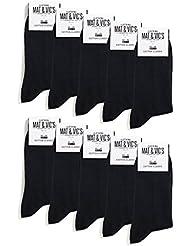 10 Paar Socken von Mat & Vic's für Sie und Ihn - Cotton classic schwarz - 35 36 37 38 39 40 41 42 43 44 45 46 - bequem ohne drückende Naht - angenehmer Komfort-Bund - entspricht OEKO-TEX Standard 100