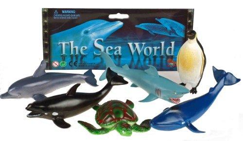 sea-world-set-of-6-plastic-animal-figures-shark-penguin-whale-turtle-dolphin-orca