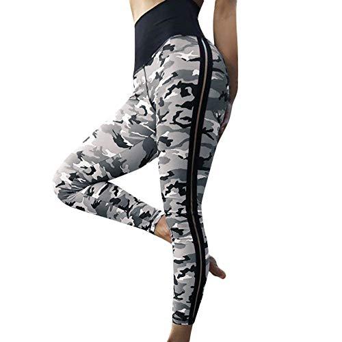 FELZ Pantalones de Camuflaje Impresos para Mujer Leggins para Fitness Running Yoga para Mujer,Pantalones Elásticos Deportivos para Mujer Pants