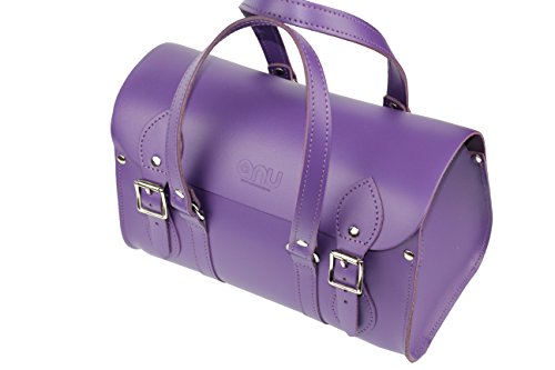 Anu® WC6 Borsa Donna In Vera Pelle in British, stile – Fatto a mano in Inghilterra Purple
