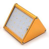 LBAFS Motion Sensor Solar Lamps,Outdoor Aluminum Alloy Radar Sensing Wall Light,20 LED Waterproof Security Lighting For Garden, Path, Patio, Yard,Metallic