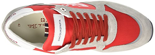 D'Acquasparta Cosimo, Sneakers basses homme Grigio (Perla Rosso)