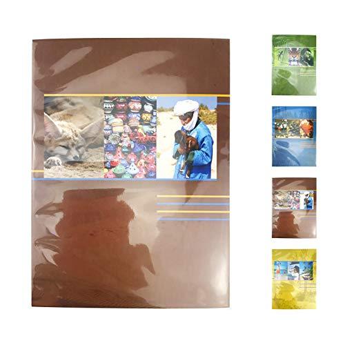 Quantio HENZO Einsteckalbum Earth - für bis zu 40 Fotos 10 x 15, Fotoetui, 16,5 x 12,5 x 1 cm (HxBxT), 40 Seiten - grün, blau, braun oder gelb wählbar, Farbe:Braun