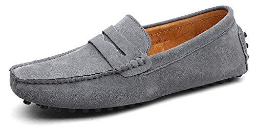 Eagsouni® Herren Mokassin Bootsschuhe Wildleder Loafers Schuhe Flache Fahren Halbschuhe Slippers -