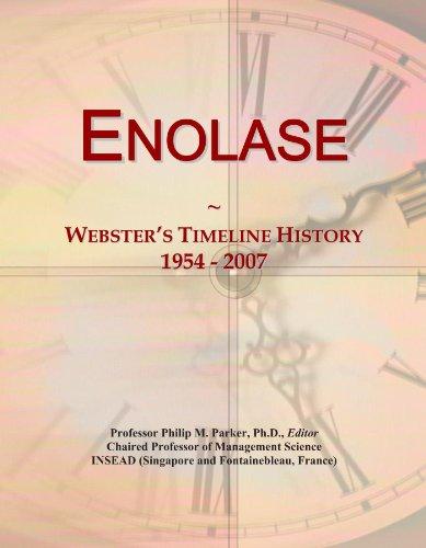 Enolase: Webster's Timeline History, 1954 - 2007