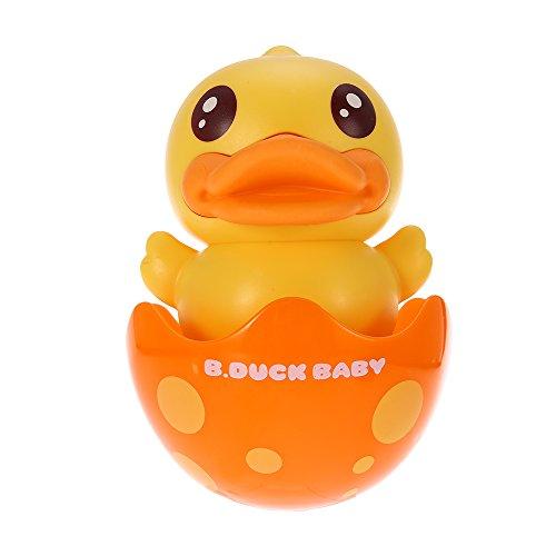 Decdeal Stehauf-Ente Stehaufmännchen Spielzeug mit Innen Glock B.Duck