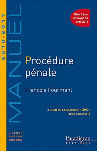 Procédure pénale 2010-2011