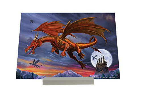 Art Print Stampa Immagini senza cornice Fantasy Dragon Castle Full Moon Decorative Piastra