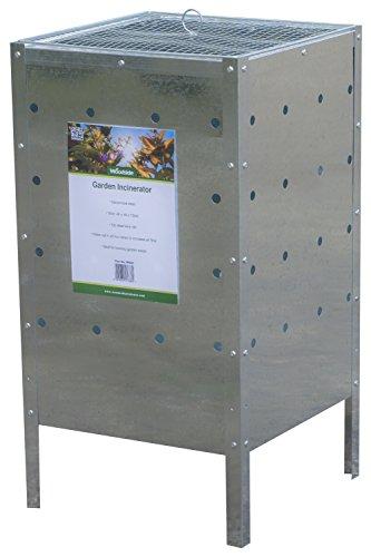 Woodside - Incinérateur de jardin - galvanisé - carré - 120 L