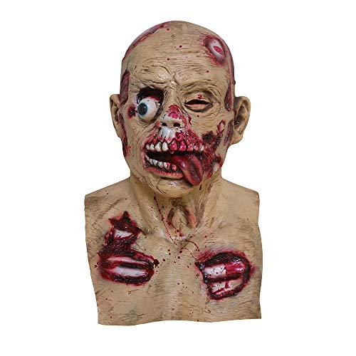 YCRD Halloween-Maske, Horror-Blutige Maske, Cosplay-Dekoration, Halloween-Themen Party, Kostüm Ball, Bar,C