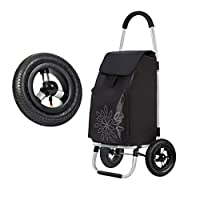 FCXBQ Shopping cart climbing stairs folding portable shopping cart small cart old trolley car hand luggage trailer