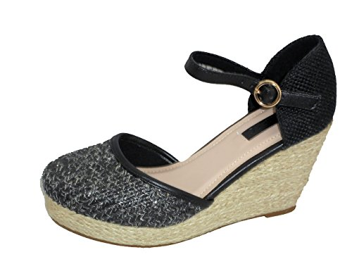 TOUCH cierre Bar Wedge Zapatos? MSIUP