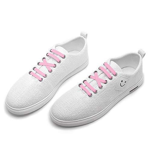 RJ-Sport Elastische Silikon Schnürsenkel Flach für Kinder und Erwachsene - Schleifenloser Schnürbänder Ersatz, Macaron Blau (Sport Schuh Schnürsenkel)