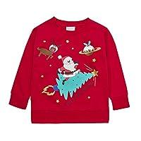 Minikidz Infant Girls Boys Xmas Printed Jumper Christmas Design Red Cosmic 3-4 Years