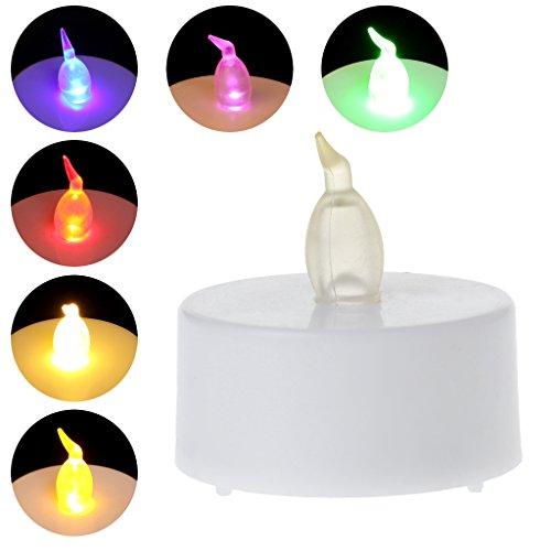 JAGETRADE Flammenlose LED Teelicht Tee Kerzen Licht Batteriebetrieben Für Home Hochzeit Bunte