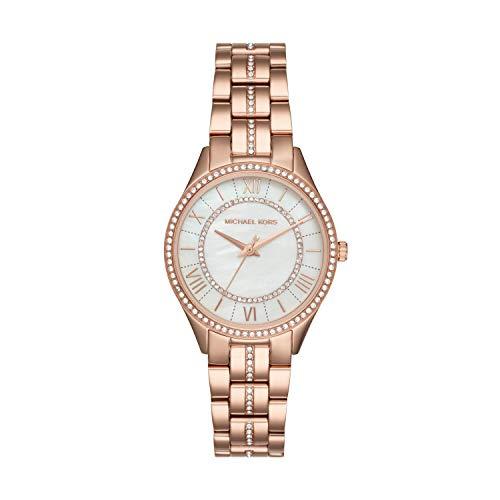 Michael Kors Damen Analog Quarz Uhr mit Edelstahl Armband MK3716