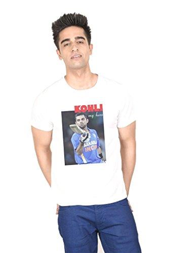 LetsFlaunt Virat Kohli T-shirt White Guys Dry-Fit-Medium Nw