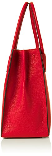 Michael Kors Mercer, Borsa Tote Donna, Rosso (Bright Red), 12.7x21.6x23.2 Centimeters (W x H x L)