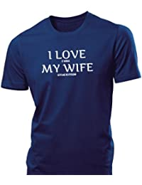 iClobber Cycling I love my Wife mens tshirt