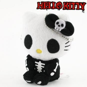Sanrio Hello Kitty Monster Collection Plush Doll Ball Chain (Skeleton)