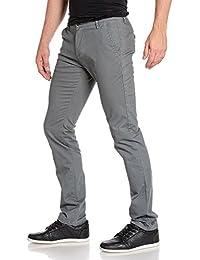 BLZ jeans - Pantalon gris chino 5 poches pour homme
