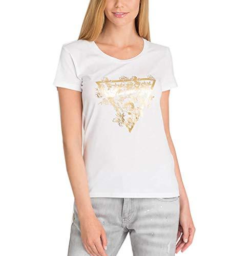 Guess Damen T-Shirt, W92I37K75R0, Weiß, W92I37K75R0 Small